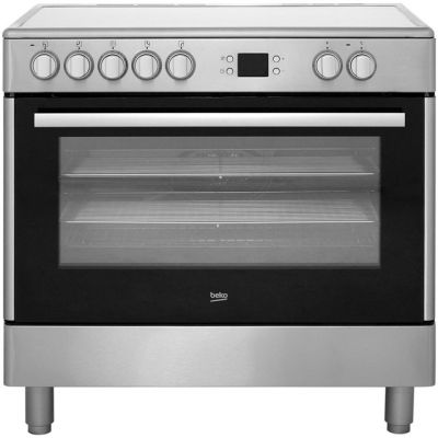 Beko BHSC90X Electric Range Cooker with Ceramic Hob - Stainless Steel