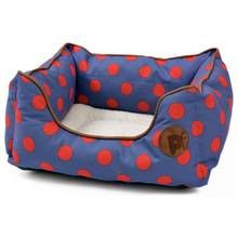 Petface Blue Spots Square Bed - Small Best Price, Cheapest Prices