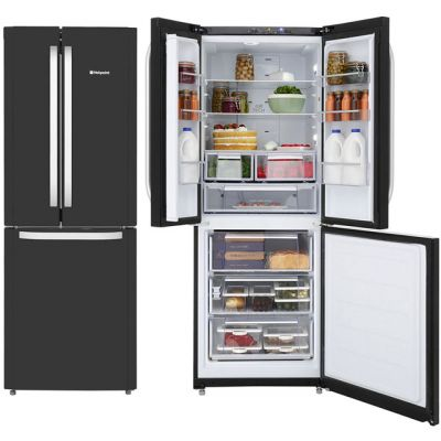 Hotpoint Day 1 FFU3D.1K 60/40 Frost Free Fridge Freezer - Black - A+ Rated Best Price, Cheapest Prices
