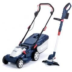 Spear & Jackson 34cm Cordless Lawnmower and Trimmer - 2x 24V Best Price, Cheapest Prices