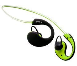 GROOV-E Action GV-BT800-GN Wireless Bluetooth Sport Headphones - Green Best Price, Cheapest Prices