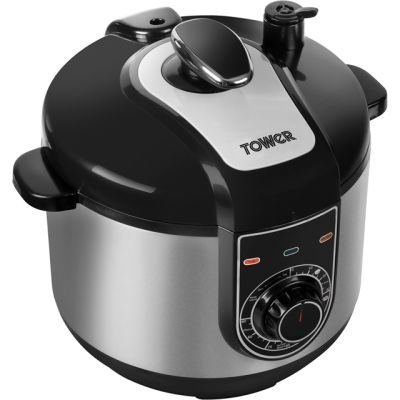 Tower T16004 5 Litre Pressure Cooker - Stainless Steel Best Price, Cheapest Prices