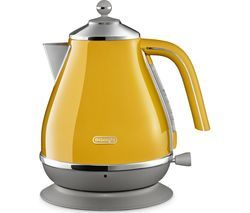 DELONGHI Icona Capitals KBOC3001.Y Jug Kettle - Yellow Best Price, Cheapest Prices
