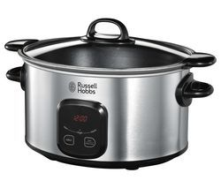 RUSSELL HOBBS 22750 Slow Cooker - Stainless Steel