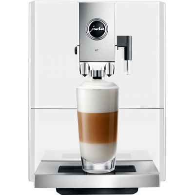 Jura A7 15125 Bean to Cup Coffee Machine - Piano White Best Price, Cheapest Prices