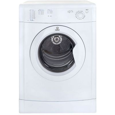 Indesit Eco Time IDV75 7Kg Vented Tumble Dryer - White - B Rated Best Price, Cheapest Prices