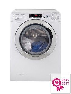Candy GVS148DC3 Grand'O Vita 8kg Load, 1400 Spin Washing Machine with Smart Touch - White Best Price, Cheapest Prices