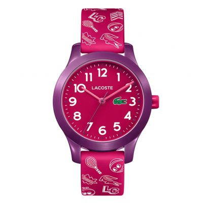 Lacoste Childrens Red Silicone Strap Watch Best Price, Cheapest Prices