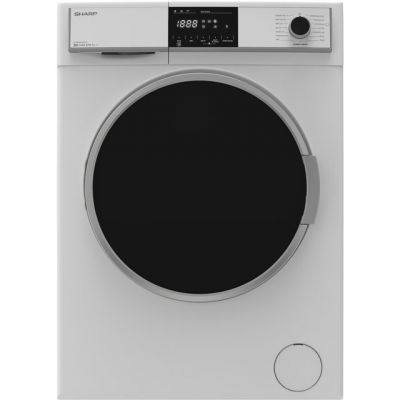 Sharp ES-HFH8147W3 8Kg Washing Machine with 1400 rpm - White - A+++ Rated Best Price, Cheapest Prices