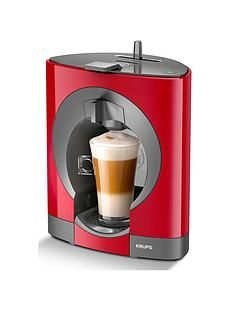 Krups NESCAFÉ® Dolce Gusto® Oblo Manual Coffee Machine - Red Best Price, Cheapest Prices
