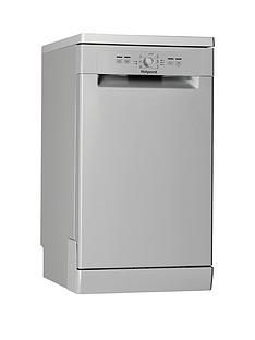 Hotpoint HSFE1B19S 10-Place Slimline Dishwasher - Silver Best Price, Cheapest Prices