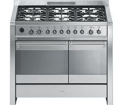SMEG A2-8 100 cm Dual Fuel Range Cooker - Stainless Steel Best Price, Cheapest Prices