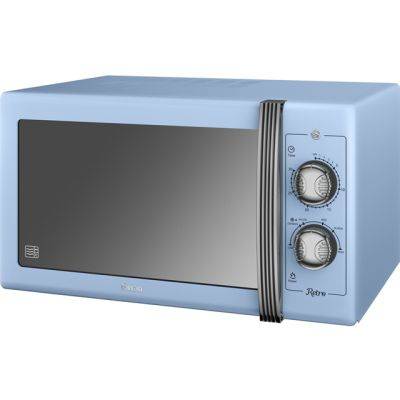 Swan Retro SM22070BLN 25 Litre Microwave - Blue Best Price, Cheapest Prices