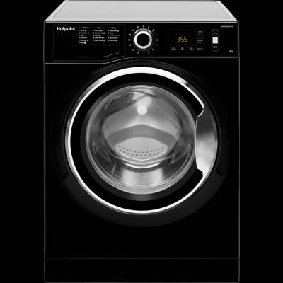 Hotpoint ActiveCare NM11946BCAUK 9Kg Washing Machine with 1400 rpm - Black - A+++ Rated Best Price, Cheapest Prices