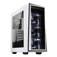 Silverstone RL06WS-PRO Mid Tower Computer Chassis, Side Window, LED Fan, 2x USB 2.0/2x USB 3.0, Silver/White, ATX/mATX Best Price, Cheapest Prices