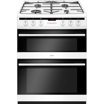 Amica AFG6450WH 60cm Gas Cooker with Full Width Gas Grill - White - A/A Rated Best Price, Cheapest Prices