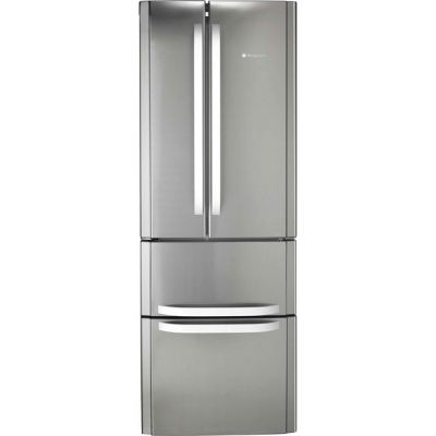 Hotpoint Day 1 FFU4D.1X 60/40 Frost Free Fridge Freezer - Stainless Steel - A+ Rated Best Price, Cheapest Prices