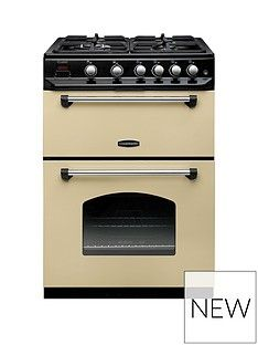 Rangemaster  CLAS60NGFCR Classic 60cm Wide Gas Cooker - Cream Best Price, Cheapest Prices