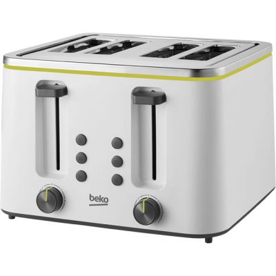 Beko New Line TAM4341W 4 Slice Toaster - White Best Price, Cheapest Prices