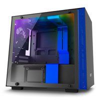 NZXT H200i, Blue, Mini-ITX Computer Chassis, w/ Tempered Glass Window, Smart Control, Mini-ITX, 2x 120mm Fans, 2x USB3 Best Price, Cheapest Prices