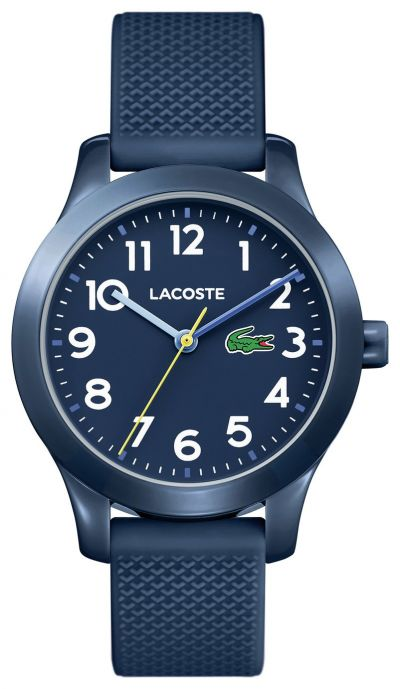 Lacoste Unisex Childrens Blue Silicone Strap Watch Best Price, Cheapest Prices
