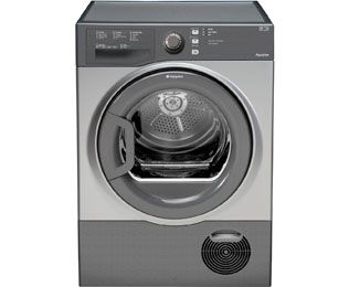 Hotpoint Aquarius TCFS73BGG 7Kg Condenser Tumble Dryer - Graphite - B Rated Best Price, Cheapest Prices