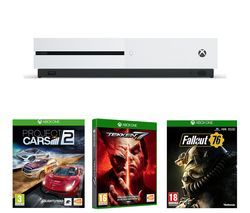 MICROSOFT Xbox One S, Fallout 76, Project Cars 2 & Tekken 7 Bundle Best Price, Cheapest Prices
