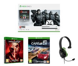 MICROSOFT Xbox One S Gears 5 Special Edition with Tekken 7, Project Cars 2 and Gaming Headset Bundle - 1 TB Best Price, Cheapest Prices