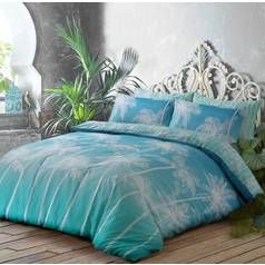 Argos Home Teal Ombre Palm Bedding Set - Double Best Price, Cheapest Prices