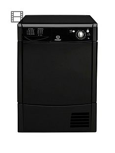 Indesit Ecotime IDC8T3BK 8kg Condenser Tumble Dryer - Black Best Price, Cheapest Prices