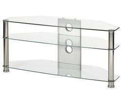 MMT Jet CL-1150 TV Stand - Clear Glass Best Price, Cheapest Prices
