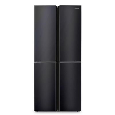 Fridgemaster MQ79394FFB American Fridge Freezer - Black - A+ Rated Best Price, Cheapest Prices
