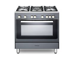 KENWOOD CK307G SL 90 cm Gas Range Cooker – Grey & Chrome Best Price, Cheapest Prices