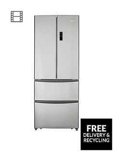 Hoover HMN7182IXK/1 70cm American-Style Frost Free Fridge Freezer - Stainless Steel Best Price, Cheapest Prices