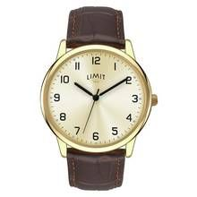 Limit Men's Brown Faux Leather Strap Watch Best Price, Cheapest Prices
