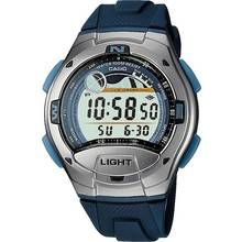 Casio Men's Sport Tide and Moon Graph Blue Resin Strap Watch
