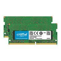 32GB Kit (16GBx2) Crucial DDR4 SO-DIMM, PC4-19200 (2400), Non-ECC Unbuffered, CAS17, 1.2v Best Price, Cheapest Prices