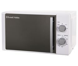 RUSSELL HOBBS RHM2060 Compact Solo Microwave - White Best Price, Cheapest Prices