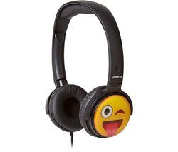 GROOV-E GV-EMJ11 EarMOJI's Cheeky Face Kids Headphones - Black Best Price, Cheapest Prices