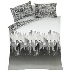 Catherine Lansfield City Scape Bedding Set - Kingsize Best Price, Cheapest Prices