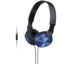 SONY MDR-ZX310APL Headphones - Blue Best Price, Cheapest Prices