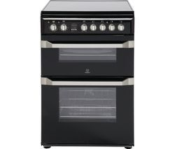 INDESIT ID60C2KS 60 cm Electric Ceramic Cooker - Black & Stainless Steel Best Price, Cheapest Prices