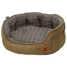 Petface Grey Check Pet Bed - Medium Best Price, Cheapest Prices