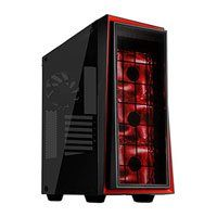 SilverStone RL06BR-GP Red Line, Black/Red ATX Computer Chassis, with Tempered Glass Window, 3x120mm Red LEDs Fans Best Price, Cheapest Prices