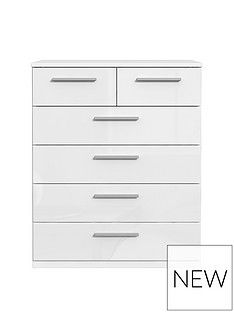 WestburyHigh Gloss 4 + 2 Drawer Chest Best Price, Cheapest Prices
