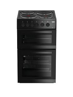 Beko KD533AK 50cm Twin Cavity Electric Cooker - Black Best Price, Cheapest Prices