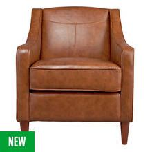 Argos Home Dorian Faux Leather Armchair - Tan Best Price, Cheapest Prices