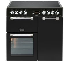 LEISURE Cookmaster CK90C230K Electric Ceramic Range Cooker - Black Best Price, Cheapest Prices