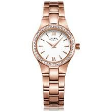Rotary Ladies' Rose Gold Plated Bracelet Watch Best Price, Cheapest Prices