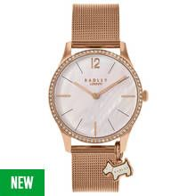 Radley Ladies' Millbank RY4288 Rose Tone Mesh Strap Watch Best Price, Cheapest Prices